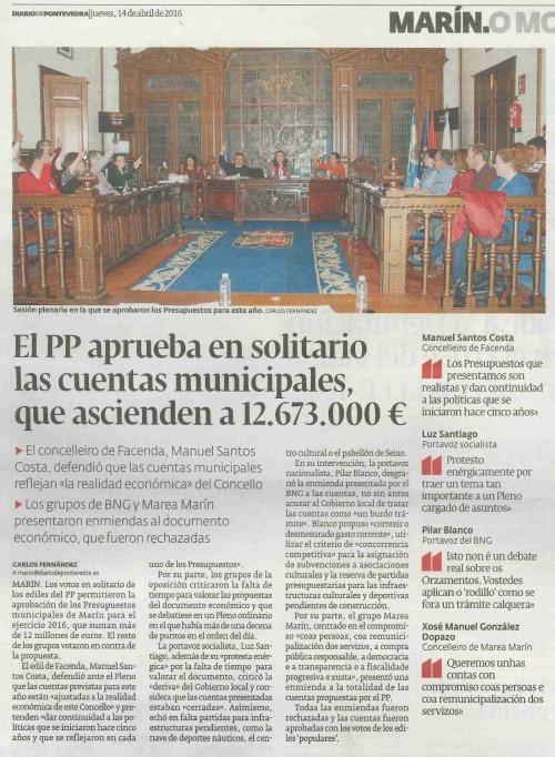 Diario, 14 abril 2016