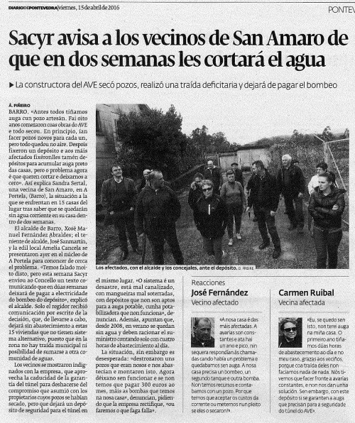 Diario, 15 abril 2016