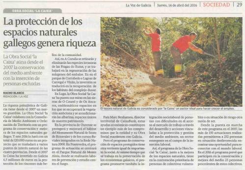 La Voz, 14 abril 2016