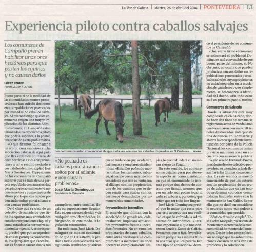 La Voz, 26 abril 2016