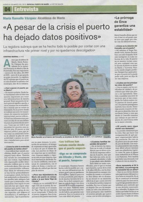La Voz, 31 marzo 2016
