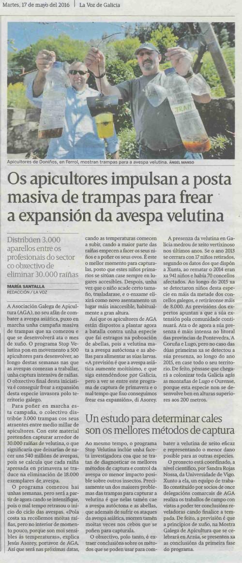 La Voz, 17 maio 2016
