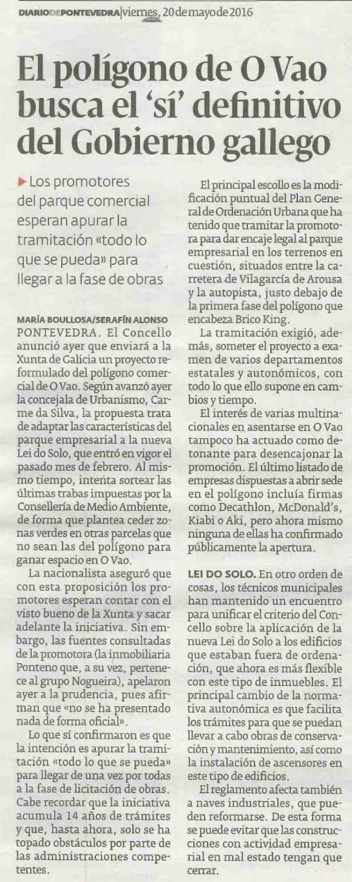 Diario, 20 maio 2016