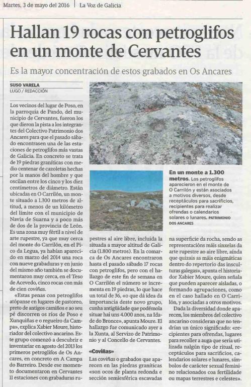 La Voz, 3 maio 2016