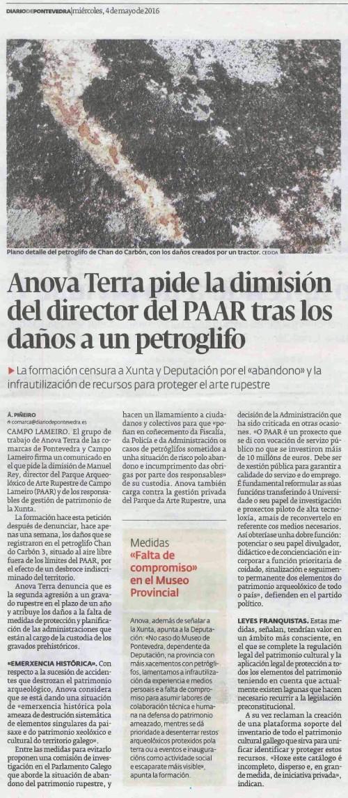 Diario, 4 maio 2016