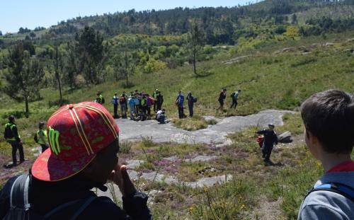 En Chan das Mouras, no monte veciñal de Salcedo.