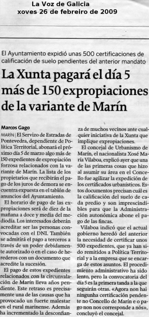 La Voz, febreiro 2009