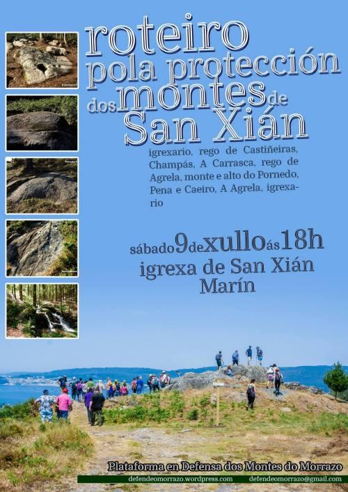 Roteiro pola protección dos montes de San Xián (Plataforma Montes do Morrazo).