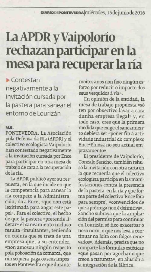 Diario, 15 junio 2016