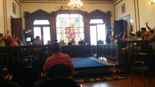 Pleno da Corporación de Marín, agosto 2016