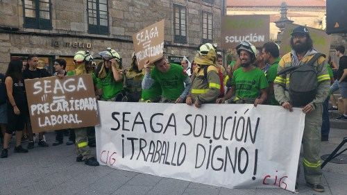 Concentración en Pontevedra contra os incendios