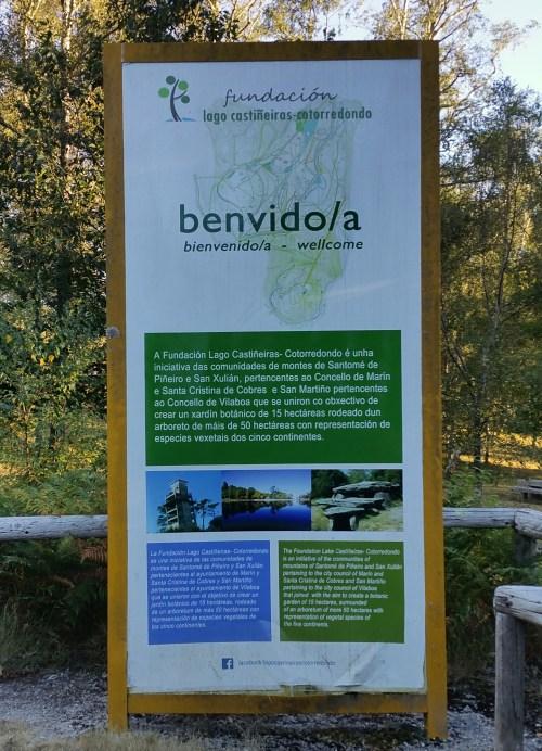 Sinaléctica no Lago de Castiñeiras