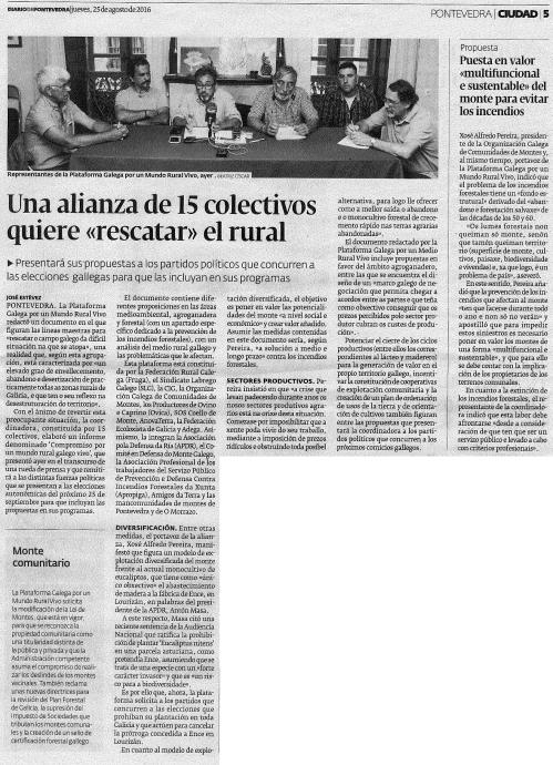 Diario, 25 agosto 2016