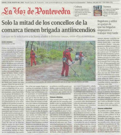 La Voz, 25 agosto 2016