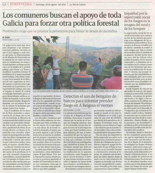 La Voz, 28 agosto 2016