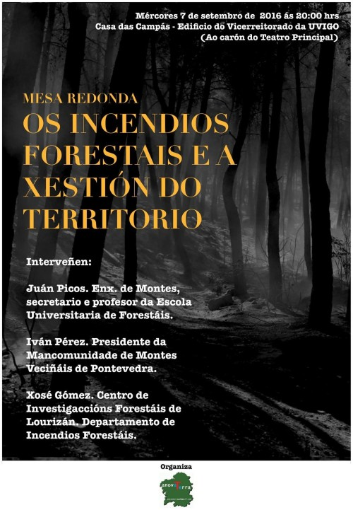 """""""Os incendios forestais e a xestión do territorio"""" (Anova Terra)"""