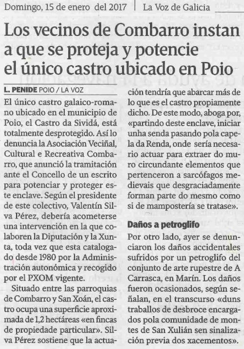 La Voz, 15 xaneiro 2017
