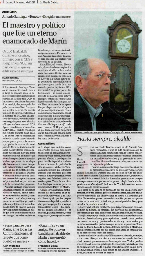 La Voz, 9 xaneiro 2017