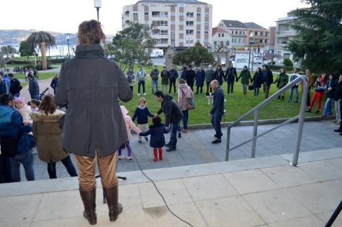 Concentración en Moaña pola defensa do Castro de Montealegre