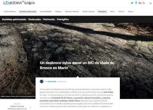 Historia de Galicia, 15 xaneiro 2017