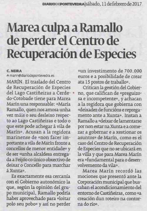 Diario, 11 febreiro 2016