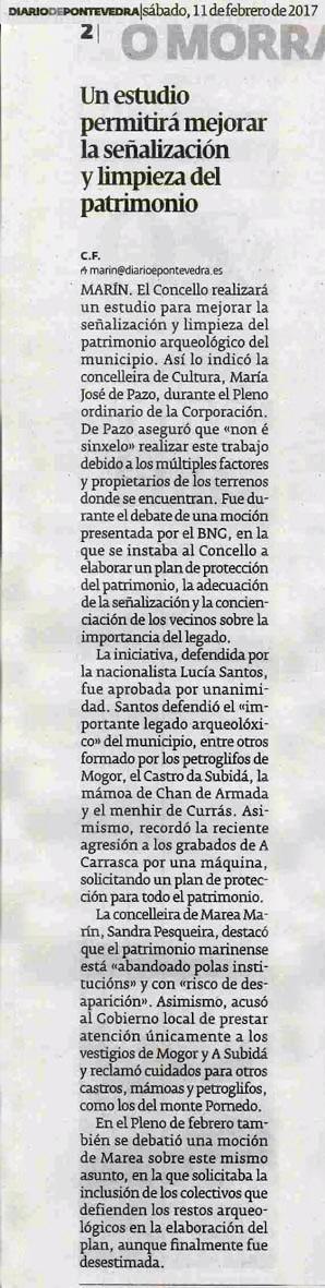 Diario, 11 febreiro 2017