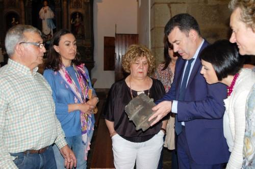 Román Rodríguez no Templo Antigo de Marín (xuño 2016)