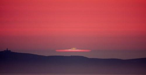 Solpor no Monte Pituco (Fotografía: Antonio Costa)