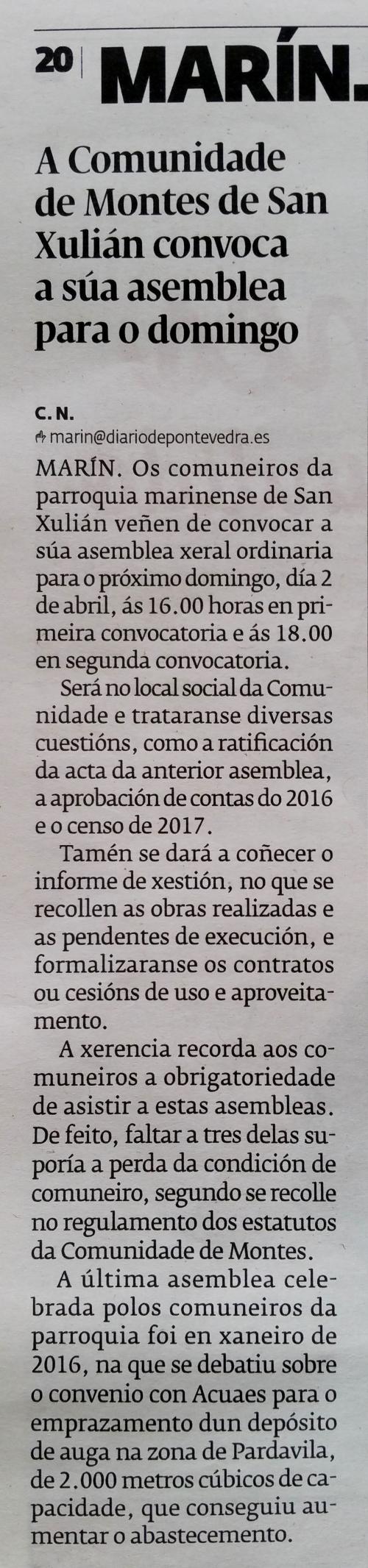 Diario, 28 marzo 2017