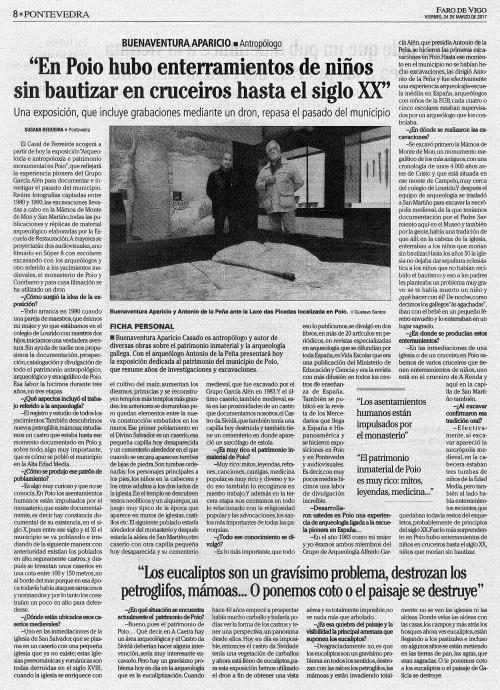 Faro, 24 marzo 2017. Entrevista Buenaventura Aparicio