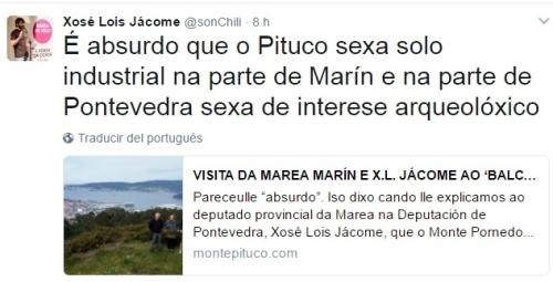 Twitter de Xosé Lois Jácome