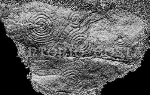 Petroglifo do Pornedo: reconstitución dixital, por Antonio Costa