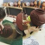 Os petróglifos do Pornedo, en cerámira, por Alén dasOlas