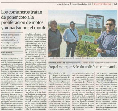 La Voz, 13 abril 2017