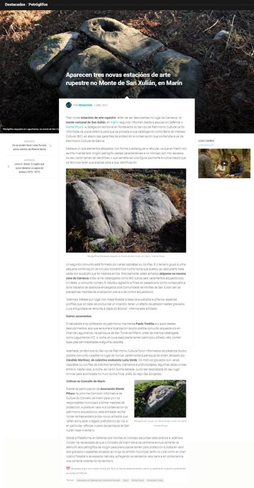 Historia de Galicia, 1 abril 2017