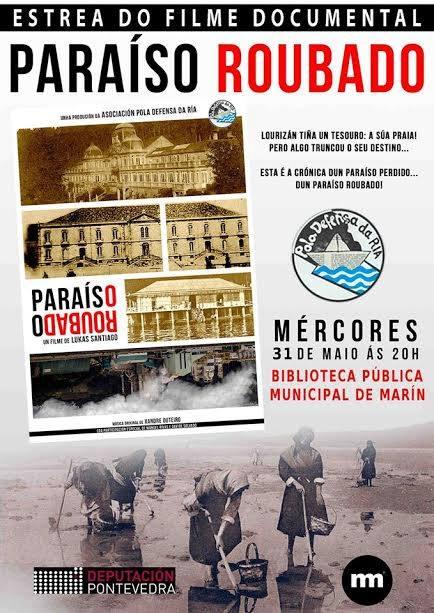 """Proxección de """"Paraíso roubado"""" en Marín"""