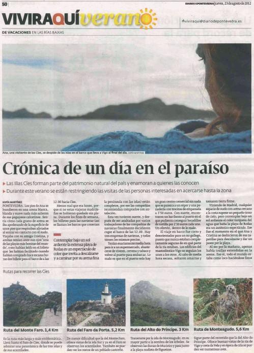 Diario, 23 agosto 2012