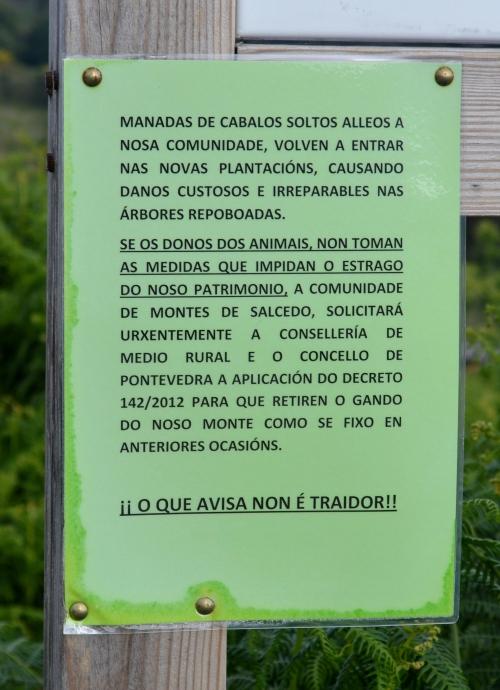 Sinaléctica da Comunidade de Montes de Salcedo