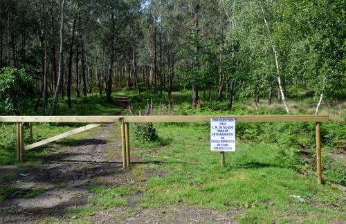 Zona de adestramento para a práctica do ciclismo