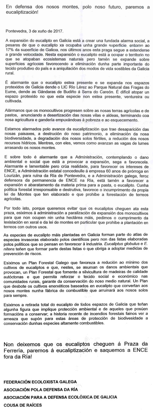 Manifesto contra a eucaliptización