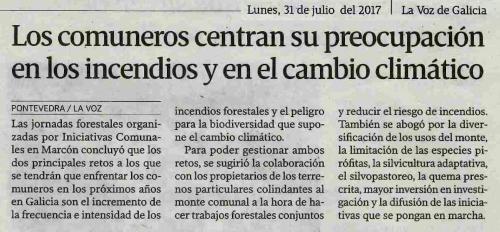La Voz, 31 xullo 2017