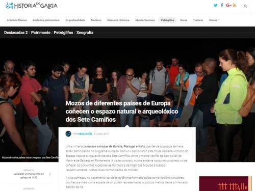 Historia de Galicia, 22 agosto 2017