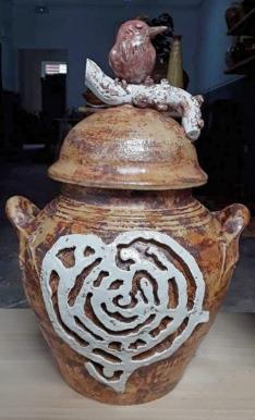 Novas pezas de Alén das olas inspiradas na arte rupestre do Monte Pituco (Pornedo)