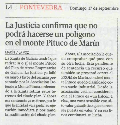La Voz, 17 setembro 2016