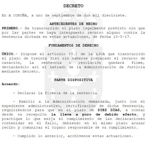 Sentenza definitiva contra o Plan Sectorial de Áreas Empresariais de Galicia