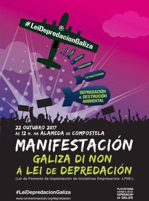 Manifestación contra a lei de depredación de