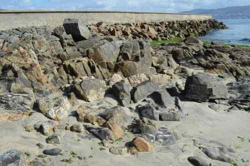 'Corredor de enclave' na praia de Niño do Corvo, Tirán (Moaña)