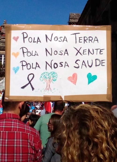 En Compostela, na manifestación contra a 'Lei Depredación'.