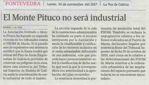 La Voz, 30 novembro 2017