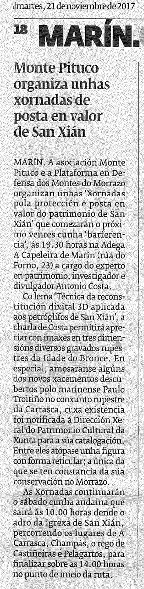 Diario, 21 novembro 2017